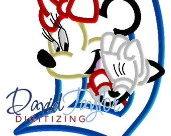 Disneyland Minnie Mouse - Embroidery Machine Design - Applique - Instant Download - David Taylor Digitizing