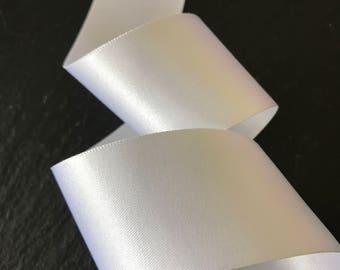 35mm Double Satin White Ribbon