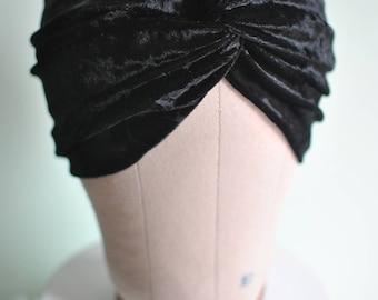 Black Velvet Twisted Knot Turban Headband