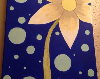 Daisy - painted canvas