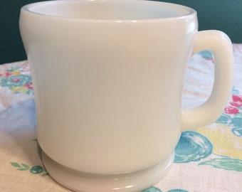 Hazel Atlas White Mug - Shaving Mug