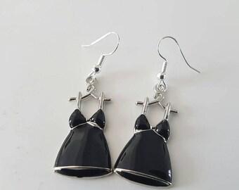 Loop ' earrings black dress