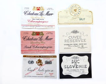 Eight Sparkling Wine Labels