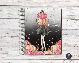 Hello Autumn Planner Cover, Fall Planner Cover for Erin Condren Life Planner, Happy Planner and Recollections planner