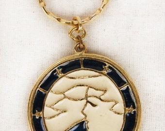 Vintage 70's Virgo Keychain Medallion