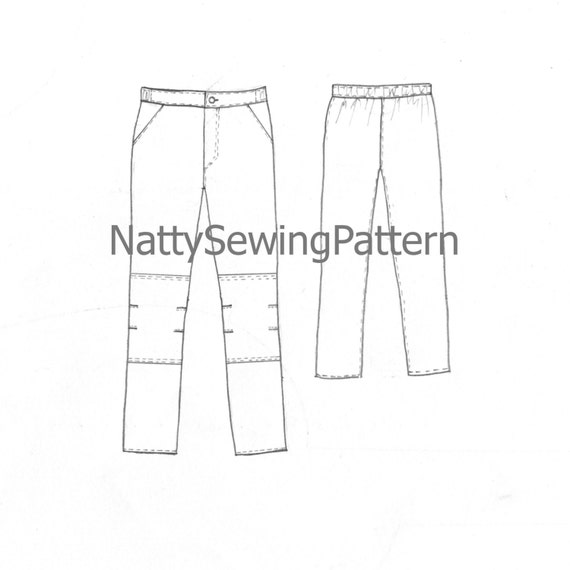 Sewing Pattern Pants For Boys And Girls Pdf Sewing Pattern