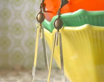 Vintage Chandelier Crystal Dangle Earrings - Anthea