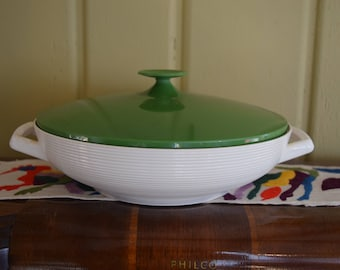 Raffiaware Large Green Bowl With Lid Thermo Temp Randall Corp.