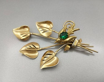 Two Coro Brooches signed and pinned together Can be worn apart. Gold over Sterling