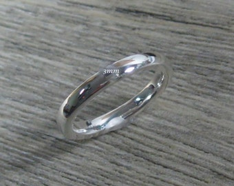3mm 18K Solid Gold Wedding Band, unisex, stackable, Made to Order, heavyweight