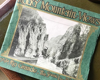 """Vintage Photography Book – """"ROCKY MOUNTAIN VIEWS"""" On The Rio Grande 'Scenic Line Of The World'"""