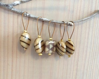 Stitch Marker Set - Lampwork Beads