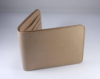 Natural Hermann Oak Vegtan Leather Compact Wallet