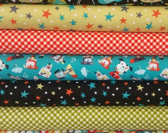 Retro Space Ships Bundle (7 Fabrics)