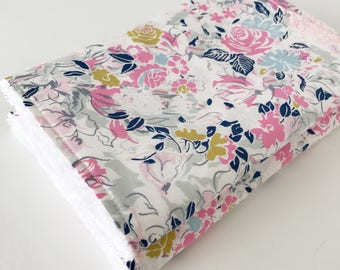 Rose Floral Burp cloth, baby girl, baby girl gift, baby burp cloth, burp rags, baby girl burp cloth, baby shower gift, newborn gift