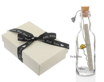 Welcome to the World   Personalised Message in a Bottle Gift   New Baby