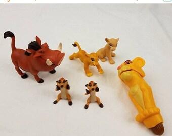 on sale vintage Disney Lion King Figurine toys Simba Nala Timon Pumbaa / lion king PVC figures / lion king mcdonalds toy / cake toppers