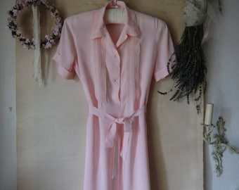 Vintage nightgown night dress Nightgown Pastel pink 50s