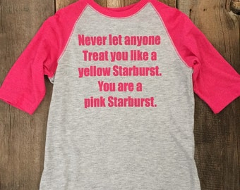Never Let Anyone Treat You Like A Yellow Starburst Youth Baseball Tee