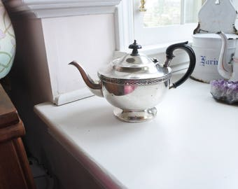 Vintage Teapot, Sheffield Silver-Plated, from London's Portobello Road, Bakelite Handles, Celtic Decor, EPNS, Hotelware, Tea service