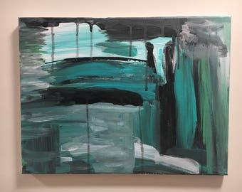 Thaw - Original Acrylic Painting on Canvas 2017