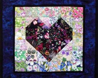"Heart of Mine - Whims Watercolor Quilt Kit - precut 2"" squares - perfect for the beginner or experienced! Quilt Grid included!!"