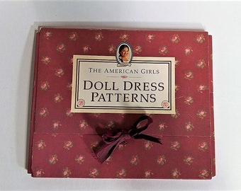 American Girls Dolls Dress Patterns-Vintage Clothes Pattern from the Josefina Doll Created in 1997-The Portfolio was Retired in 2007