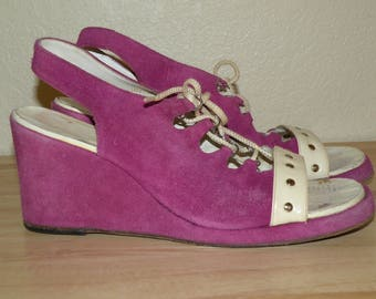 1970s Purple Wedges size 9/10