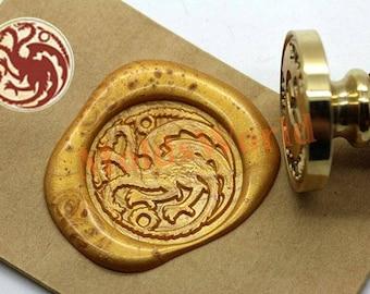 House of Targaryen Wax Seal Stamp Kit Game of Thrones Sealing Wax Stamp Kits Wax Seal Gift Box Package S1357