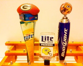 Green Bay Packers-Football Tap Handles-Lambeau Field-Cheese Heads-Aaron Rodgers-Beer Tap-Christmas Gift For Coworker-Boss Football Gift