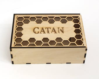 Settlers of Catan Wood Laser Cut Game Box