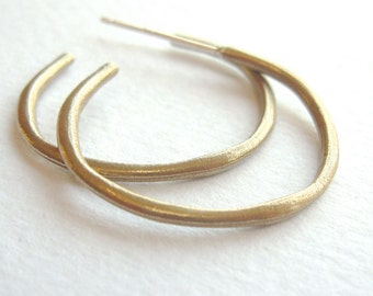 Bronze Hoop Earrings ~ Post Hoop Earrings ~ Gift for Women - Gold Hoop Earring - Eco Friendly Jewelry - Urban Gypsy Hoops (EB-PHP)