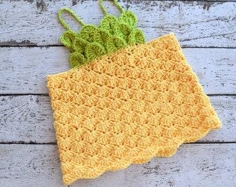 Crochet Top PATTERN - Crochet Pineapple Pattern - Crochet Kid's Top Pattern - Crochet Girl's Top Pattern