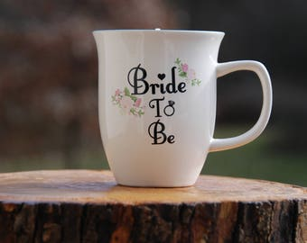 Bride to be mug with soy candle in citrus basil, mimosa mandarin, lavender chamomile, wedding, shower gift, bachelorette party, bridesmaid