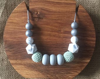 Marbles and Mint Mama Necklace