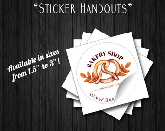 """1.5 Inch Round Stickers, 1.5"""" In Circle Sticker, Customized Any Color Round  Stickers"""