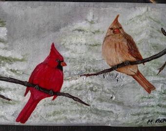 Cardinal's And A Snowy Christmas