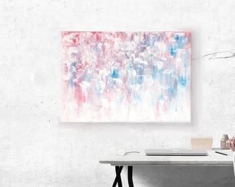 Abstract Painting Acrylic Painting Canvas Art Painting Wall Pictures Abstractos Huge Hand Painted Blue Red White Big Livingroom Bedroom