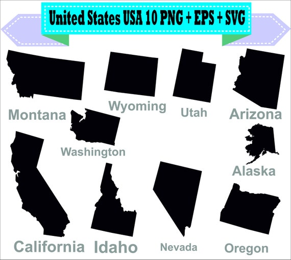America United States USA State Map California Silhouette Vector
