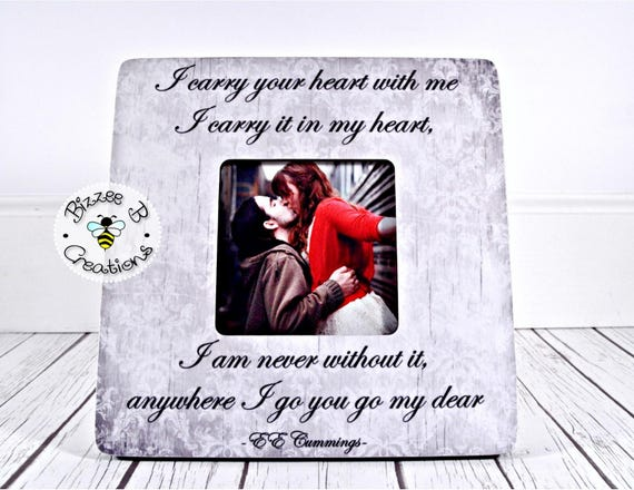 ON SALE Picture Frame Gift for Significant Other, Valentine\'s Day ...