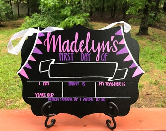 CUSTOMIZED First Day of School chalkboard sign