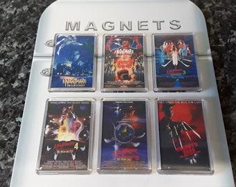 A Nightmare on Elm Street Fridge Magnet Set. Parts 1-6 (Freddy Krueger)