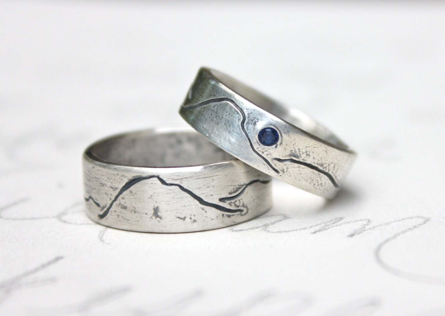 silver inspired rings wedding alternative crazyassjewelry silve a ocean wave made band custom ring engagement by buy rustic