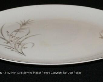 """Castlecourt Wheatspray 12"""" Oval Serving Platter"""