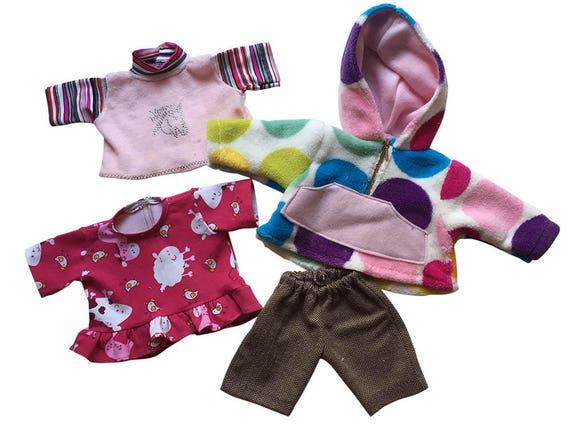 Winter-Basics für Puppen, 3 Grössen, Kleid Pulli Shirt Kapuzenshirt ...