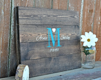 Wedding Guest Book Wedding Guestbook Wedding Sign In Custom Guest Book -