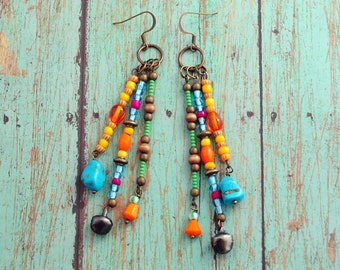 Tarde Em Itapuã Earrings, Dangle Earrings, Beach Jewelry, Colorful Jewelry, Boho Chic