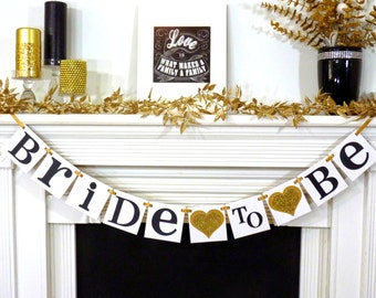 Bridal Shower Banner / Miss to Mrs. Banner / Bridal Shower Decoration / Bachelorette Party / Bride to Be Banner / Wedding Banner Decoration