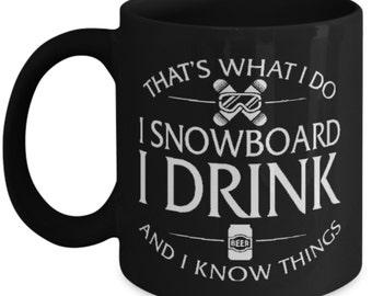 Snowboard Mug - snowboarder Mug - Snowboard Coffee Mug