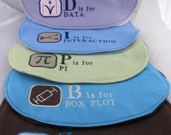 ABC's of Statistics Burp Cloth - Made to Order